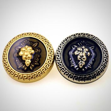 18mm 23mm Lion head gold silver buttons for shirt overcoat