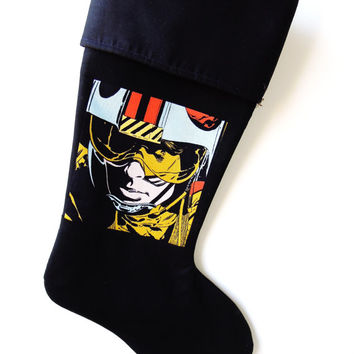 Luke Skywalker Christmas Stocking, Skywalker Christmas Stocking, Christmas Stocking,