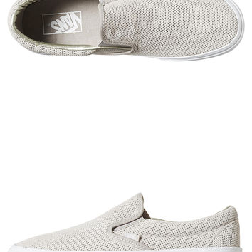 VANS CLASSIC SLIP ON SUEDE WOMENS SHOE - SILVER CLOUD