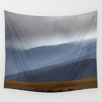 Storm at the mountains. Adventure. Wall Tapestry by Guido Montañés