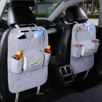 Auto Car Back Seat Storage Organizer Trash Net Holder Multi-Pocket Travel Storage Bag Hanger for Auto Capacity Storage Pouch