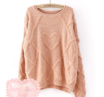 Knit Pattern Heart Sweater