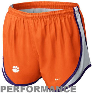 Nike Clemson Tigers Youth Girls Tempo Performance Shorts - Orange - http://www.shareasale.com/m-pr.cfm?merchantID=7124&userID=1042934&productID=520958230 / Clemson Tigers