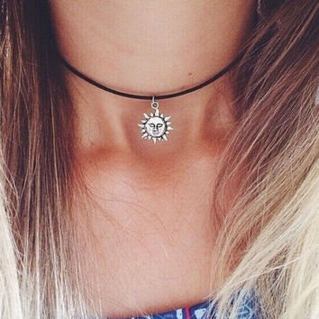 Womens Sun necklaces for women-03213