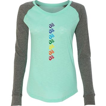 Yoga Clothing For You Chakra OMS Preppy Patch Elbow Yoga Tee Shirt