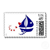 Nautical Love Postage Stamps from Zazzle.com