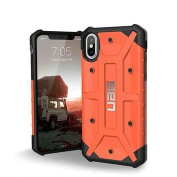 CREYRQ5 UAG iPhone X Pathfinder Feather-Light Rugged [RUST] Military Drop Tested iPhone Case