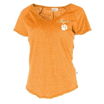 Official NCAA Venley Clemson University Tigers TIGER RAG! Women's V Neck T-Shirt