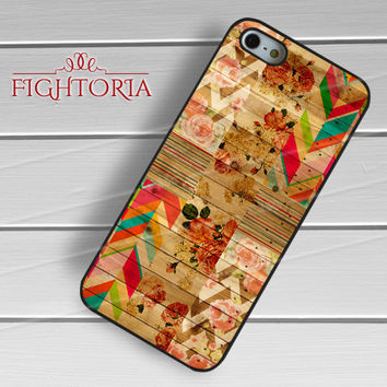 Vintage floral on wooden -snw for iPhone 6S case, iPhone 5s case, iPhone 6 case, iPhone 4S, Samsung S6 Edge