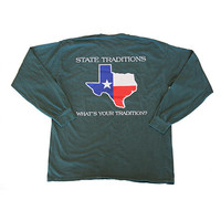 Texas Traditional Long Sleeve T-Shirt Willow | State Traditions