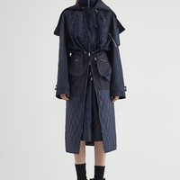Laced Long Parka Jacket