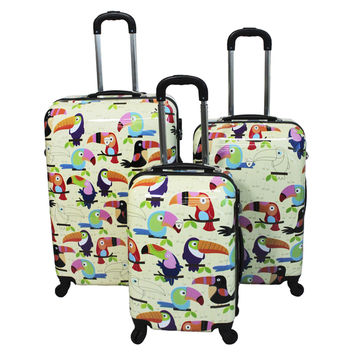 Toucan 3-piece Hardside Lightweight Spinner Luggage Set with Combination Lock | Overstock.com Shopping - The Best Deals on Kids' Luggage Sets