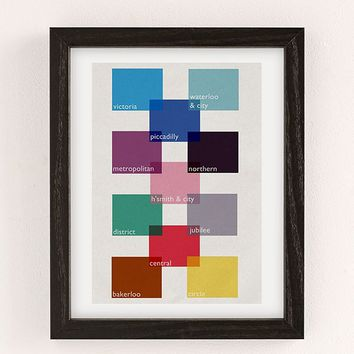 Indie Prints Tube Grid Wall Art Print | Urban Outfitters