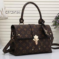 LV Louis Vuitton Women Shopping Bag Leather Satchel Shoulder Bag Crossbody