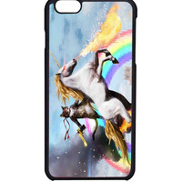 Cat Riding Unicorn with Gun Funny Cute For  iPhone 6 Case *AR*
