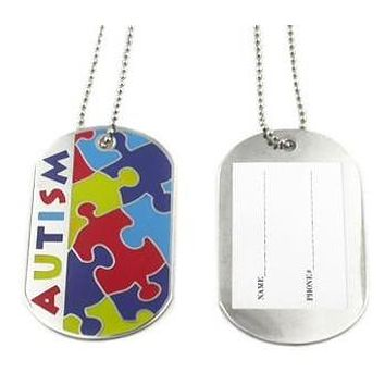 Autism Awareness Identification Necklace.