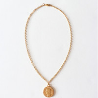 Small Gold Coin Pendant