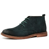 Men's Leather Suede Chukka Boots