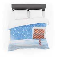 "Snap Studio ""North Pole"" Snow Featherweight Duvet Cover"