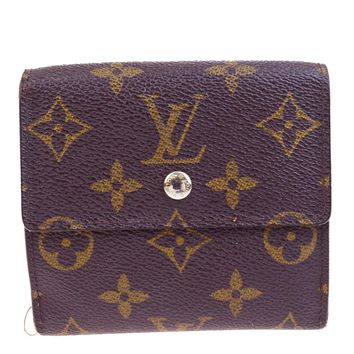 Auth LOUIS VUITTON Elise Trifold Wallet Purse Monogram Leather M61654 BN 07V893