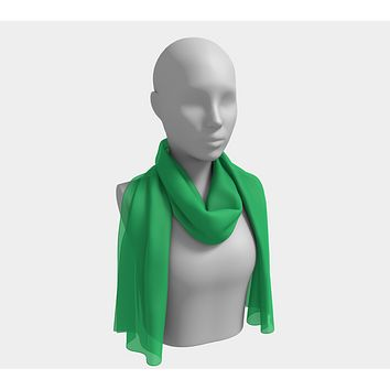 Solid Long Scarf - Green