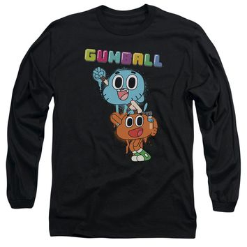 Amazing World Of Gumball - Gumball Spray Long Sleeve Adult 18/1 Officially Licensed Shirt