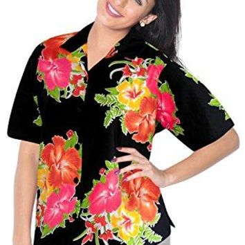 Women Shirt Top Hawaiian Beach Blouses Tank Casual Aloha Holiday Regular Fit