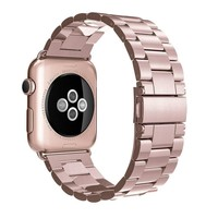 Stainless Steel Strap Band Butterfly Clasp for Apple Watch /Sport/ Edition Series 1/Series 2 38mm 42mm Wristband Replacement
