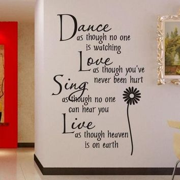 DCCKIX3 wall sticker Dance as.. 0776 stickers manufacturers cartoon style living room bedroom, children's room wall decoration stickers for home deco vinyl = 1946072772
