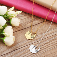 1Pcs Handmade Sloth Jewellery Animal Necklaces Pendants Body Chain Choker Necklace Sloth Christmas Gift For Best Friend