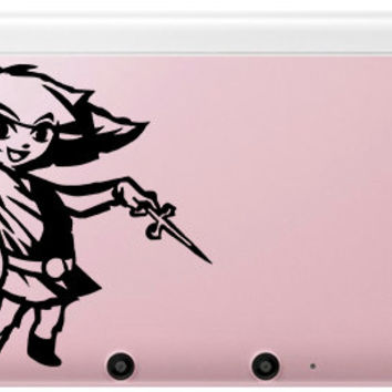 Toon Link Decal for 3DS,3DS XL, OR Laptop Sized Legend of Zelda Windwaker.