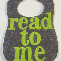 Read to Me Baby Bib - Book Worm - Baby Shower Gift - Nerd