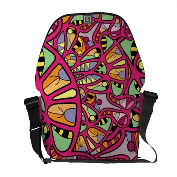 Kaleidoscopic Multicolored Abstract Pattern Messenger Bag