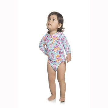 Ondademar Baby Girls Verbena Long Sleeve One Piece Swimwear