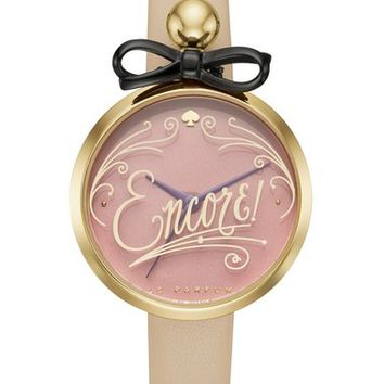 kate spade new york 'parfum' leather strap watch, 28mm | Nordstrom