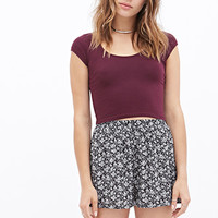 FOREVER 21 Boho Babe High-Waisted Shorts