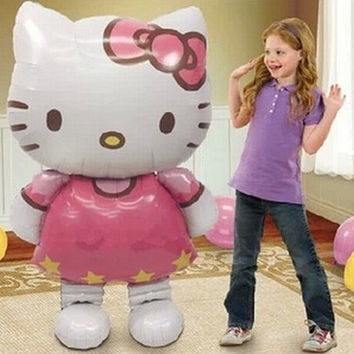 Hello Kitty Cat  balloons for  birthday party decoration   inflatable ball balloons Classic toys