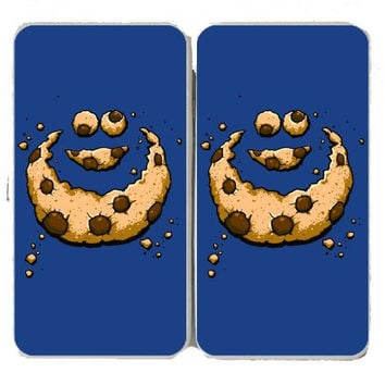 'Hidden Monster' Funny Public Television Show Parody Chocolate Chip Crumbs - Taiga Hinge Wallet Clutch