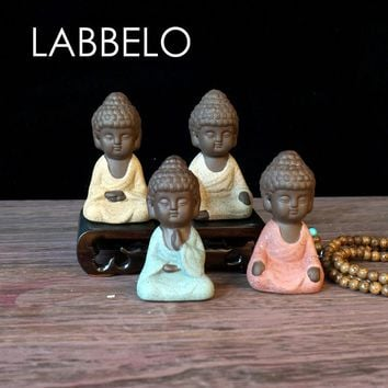 labbelo ceramic buddha statue monk   boutique  accessories auspicious ornaments sand flower garden