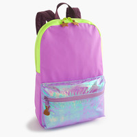 crewcuts Girls Colorblock Iridescent Backpack