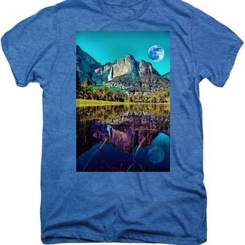 Yosemite National Park Poster 2 - Men's Premium T-Shirt