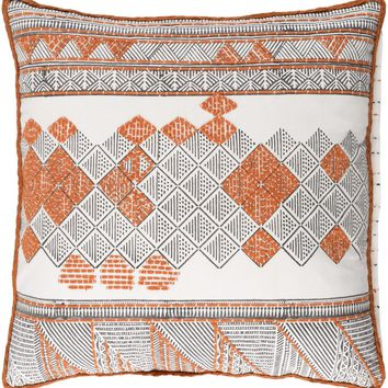 Kerio Throw Pillow Orange, Brown