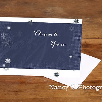 "Greeting Card, Thank You Card, Note Card, Blank Card, Graphic Design, Thank You, Winter, Fine Art, 5""x7"", Greeting Cards, Paper Goods"