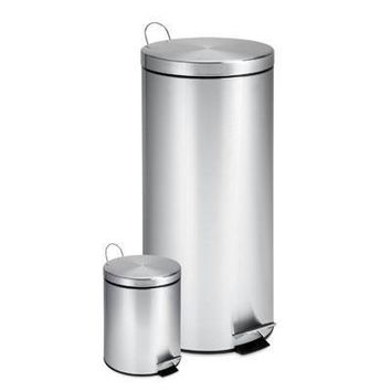 Stainless Step Trash Can 2pck