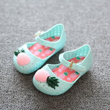 Mini Pineapple Jelly Shoes