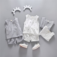 summer baby boy girl clothes vest and pants suit newborn infant clothing toddler set baby clothing summer set