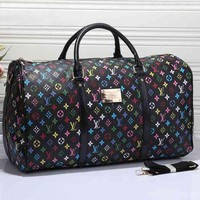 GP1Q LV Women Leather Multicolor Luggage Travel Bags Tote Handbag