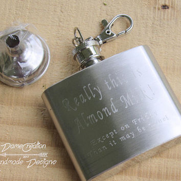 Flask Keychain, Personalized Flask for Anniversary, Mini Flask, Personalized Flask for Bridesmaid, Custom Flask, Engraved Flask, Flask