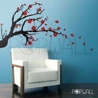 vinyl wall sticker decal  Cherry Blossom Branch  by NouWall