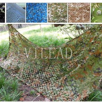 VILEAD 9 Colors 2.5M*7M Camouflage Net Sun Shelter Camo Netting Stealth Net Anti Fire Shade Net Roll For Snipers Beach Net Car